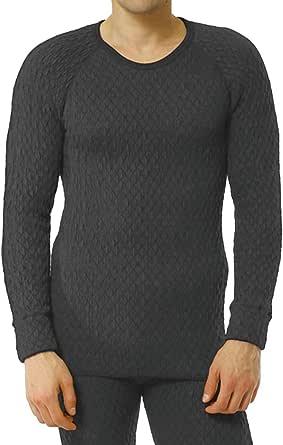 ひだまり本舗 [紳士用]長袖丸首シャツ ひだまり エベレスト[3重袖シリーズ]