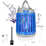 2020 Bug Zapper Outdoor Camping Lantern LED Flashlight, 3-in-1 Portable IPX7 Waterproof Mosquito Killer Camp Lamp LED Tent Li