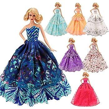 e61a980848132 「Barwawa」ランダム5枚セット バービー 服 ドレス 手作り ドール用 人形用 アクセサリー