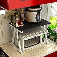 LIANGJUN 調味料ラック電子レンジ・オーブン・ラック収納棚キッチン、6種類あり ( 色 : ブラック , サイズ さいず : White frame )