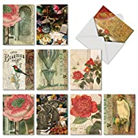 NobleWorks母の日ユーモアカード 10 Assorted Thank You Cards (M6727TYG)