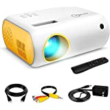 Mini Projector, ARTSEA Portable Projector for Kids, Movie Projector for Cartoon, LED Pocket Projector for Indoor Outdoor, Vid