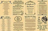 8ページon Moon Magick–Book of Shadowsページ–Spells & Rituals–ウィッカポスター–Like Charmed–Real Witchcraft–ウィッカ(銅) ゴールド