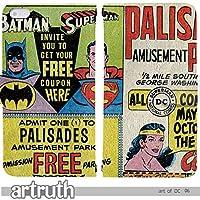 art of DC Justice 手帳型 Xperia XZ2 Premium SO-04K(G009102_01) 専用 アメコミ 映画 ワンダーウーマン バットマン スーパーマン pop art センス 個性的 スマホケース