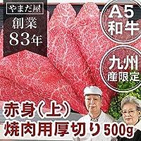 九州産 黒毛和牛(鹿児島/佐賀/長崎)牛肉 国産牛 和牛 A4/A5ランク 5等級 焼き肉 BBQ バーベキュー (上)赤身厚切り 500g