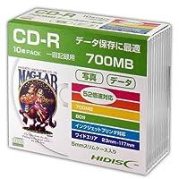 HIDISC CD-R データ用 700MB 52倍速対応 5mmSlimケース入り ホワイト ワイドプリンタブル HDCR80GP10SC 10枚パック x20個セット