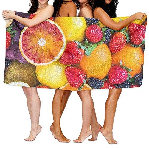 果物 スポーツタオル ビーチタオル バスタオル 速乾 大判 旅行用 軽くて薄手 抗菌防臭 おしゃれ 特大サイズ 80 X 130cm 1枚