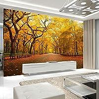 カスタム写真3Dの壁紙秋の風景の中の道端の木壁の壁画寝室壁画壁紙リビングルーム,350cm×245cm