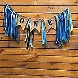 NEWBEER 初めての誕生日バナー ベビーパーティー装飾 ブルー NB-BB002