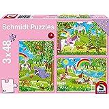Prinzessin im Schlossgarten. 3 x 48 Teile Puzzle