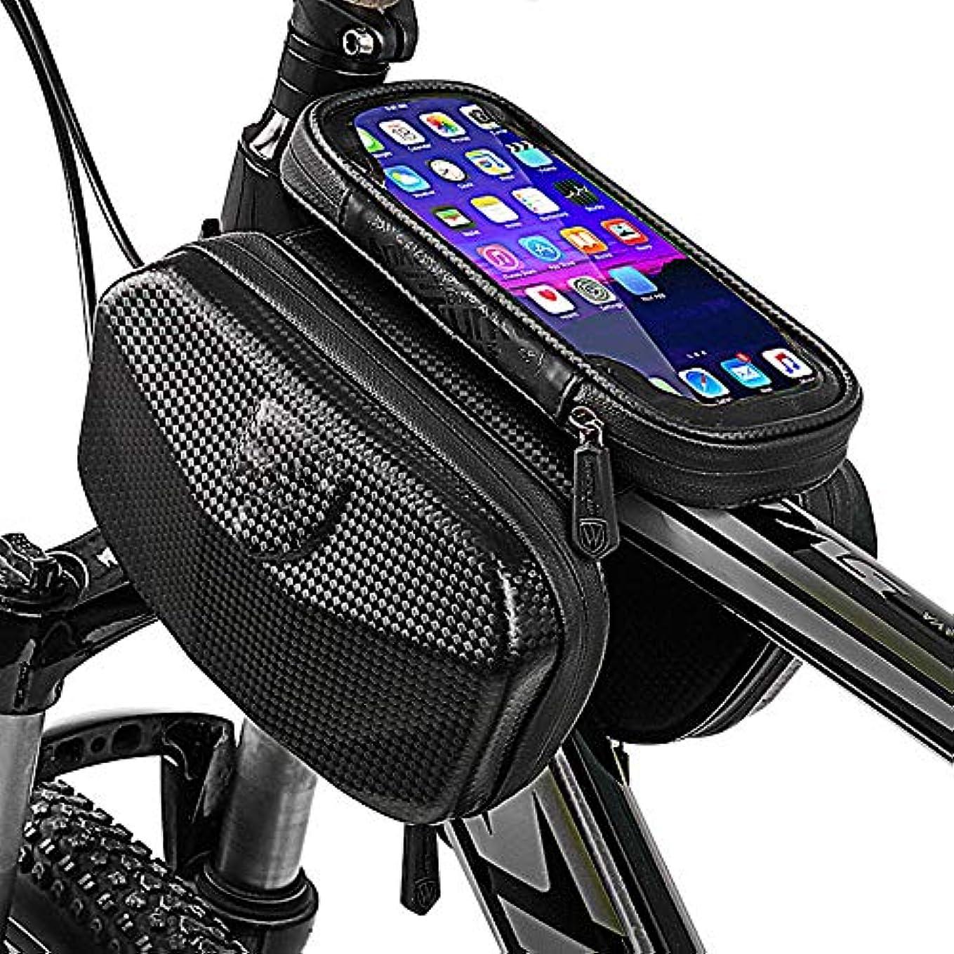 シンポジウム現代の気づくなる自転車フレームバッグ携帯電話屋外ポータブル防水収納バッグサイクリングハンドルバーバッグ電話ホルダー6インチスマートフォó
