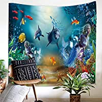 飾り物タペストリー 壁掛け装飾布 サメ孔雀オオカミねこ アートプリント壁飾り 背景布 インテリア 多機能 おしゃれ,C,130*150