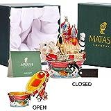 Matashi Noah 's Ark TrinketボックスW / | Authentic、手描きジュエリーホルダー|装飾ホーム、寝室やクローゼット飾り|赤ちゃん動物、鮮やかな色