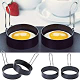 CHOUREN 1PC Nonstick Handle Round Egg Rings Shaper Pancakes Molds Ring