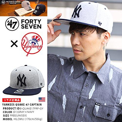 【B-QUAKE17FRP-GY】 フォーティーセブンブランド 47BRAND CAP 帽子 ベースボール ボールキャップ MLB メジャーリーグ ニューヨーク ヤンキース 正規品