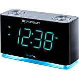 "Emerson Alarm Clocks 1.4"" Cyan LED Display"