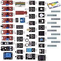 Kuman 37個 ArduinoとRaspberry Pi用センサー 電子部品キット UNOR3 互換キット 実験用 Pi 3 2 B B+に交換 K5S