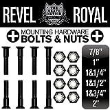 REVEL ROYAL 7/8インチ 0.875インチ 22ミリ スケートボード スケボー デッキ&トラック用 プラス ビス ハードウエア ブラック
