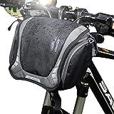 WILD MAN マウンテンロードバイク クイックリリース フロントハンドルバー サイクリングバッグ 旅行用屋外サイクリング用防水