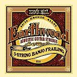 【正規品】 ERNIE BALL バンジョー弦 ブロンズ 5弦 フレイン (10-13-15-24W-10) 2061 Earthwood 80/20 Bronze