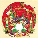 風呂敷 綿シャンタン 50㎝ 小風呂敷 ( ふろしき )54-1 タペストリーに最適 彩時記「お正月」   日本製 通販 ギフトに。