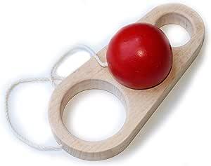 三段飛び (おもしろケン玉 木のおもちゃ) wooden toys
