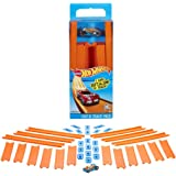Hot Wheels Track Builder Straight Includes 15 Feet of Track and Bonus Car, Styles May Vary