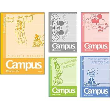 サンスター キャンパスノートB罫5冊パック DCスタンダードキャラクター ミッキー&ミニー S2617595