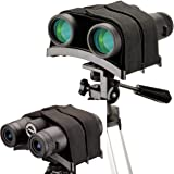 Gosky Universal Binocular Tripod Mount, Stabilite Binocular Tripod Adapter -1/4-20 - New Binocular Rest Compatible with All T