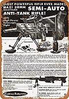 ゾロトゥルン20mm対戦車ライフル メタルティンサインレトロ塗装アートポスター装飾プラーク警告バーカフェガレージパーティーゲーム