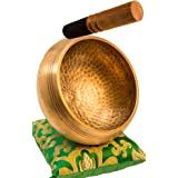 Tibetan Singing Bowl Set By YAK THERAPY- Chakras Healing & Meditation Yoga Sound Bowl with Mallet, Silk Cushion, & Silk Bag,