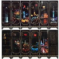 LUSIR ( ルシール ) 中国 アンティーク クラシック 屏風 装飾用 芸術品 贈り物 プレゼント に喜ばれます 上海夜景