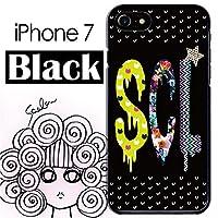 スカラー iPhone7 50304 ブラックタイプ デザイン スマホ ケース カバー ハートドット SCLロゴ ブラック かわいいデザイン ファッションブランド UV印刷
