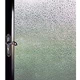 DUOFIRE 窓用フィルム 目隠しシート【水で貼る 貼り直し可能】ガラスフィルム 遮光・遮熱・断熱シート 装飾フィルム 紫外線・UVカット (DF14001, 0.6M X 2M)