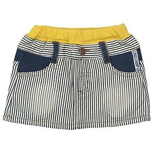 【春物】 CHILD CHAMP(チャイルド チャンプ) ヒッコリーハートポケットスカート 100cm /OW NO.C-86161405