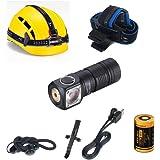 18350 Headlamp Flashlight -1000 Lumen, FloodLight H04 RC Mini Hi CRI, Compact EDC Waterproof LED Headlight for Outdoor Campin