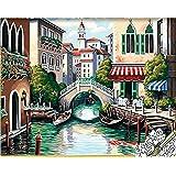 油絵DIY 数字キットによる絵画 世界的に有名な油絵 ベネチア様式 40x50センチ