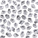 Neworkg 500 Pieces Acrylic Clear Ice Rock Crystals Treasure Gems for Table Scatters, Vase Fillers, Event, Wedding, Birthday Decoration Favour, Arts Crafts