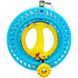 emma kites Lockable Kite Reel Winder 8.7inches(Dia) Macaron Blue with 120lb Line Smooth Rotation Ball Bearing Tool for Single
