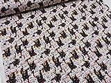 福福招き猫 レッド赤 ドビー生地   |キヤット|ねこ|にゃんこ|アニマル|動物||綿|コットン|布|