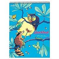 eeBoo Sketch Book Drawing Pad Raccoon and Owl [並行輸入品]