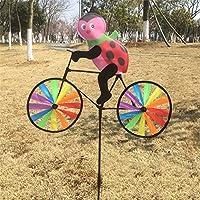 Jesse Ladybug On Bike Windwillスピナー3dカラフルな面白い動物のヤードガーデン
