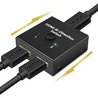 【4K安定版】HDMI 切替器 4K 60HZ hdmi Ver2.0 セレクター 1入力2出力/2入力1出力 双方向…