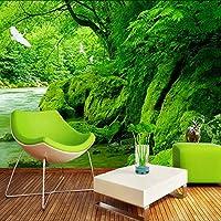 Xueshao カスタム3D壁紙緑の森自然風景壁画Hdリビングルームのソファの背景の壁紙家の装飾壁画-120X100Cm