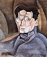 ¥5K-200k 手書き-キャンバスの油絵 - 美術大学の先生直筆 - portrait of maurice raynal 1911 Juan Gris 絵画 洋画 複製画 ウォールアートデコレーション -サイズ09