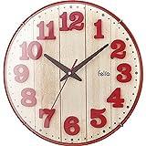 フェリオ インテリア掛時計ブリュレ レッド 【壁掛け おしゃれ クロック おすすめ おしゃれ シンプル 人気 売れ筋 かわいい シンプル 高級 リビング】