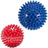 Pack of 2 Spiky Hard Massage Balls - Plantar Fasciitis, Muscle Soreness Massager Ball