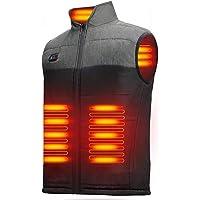 LECDDL 加熱ベスト ヒートジャケット 加熱服 USB充電式電熱ベスト ダブルスイッチ 前後独立温度設定可能 3段階…