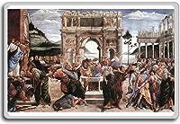 Botticelli - The Punishment Of Korah classic art fridge magnet - 蜀キ阡オ蠎ォ逕ィ繝槭げ繝阪ャ繝