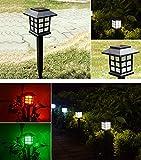 Easy Live LEDソーラーガーデンライト2本セット電気代ゼロ!アンティーク調 アウトドアー スポットライトスタンド式 差し込み式 両用 屋外照明ライト 花壇ガーデニング 庭 坪 (ウォームホワイト)